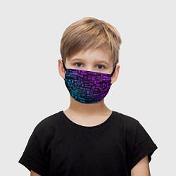 Маска для лица детская Неоновые лого игр цвета 3D — фото 1