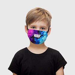 Маска для лица детская LINKIN PARK цвета 3D-принт — фото 1