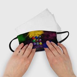 Маска для лица детская AMONG US цвета 3D-принт — фото 2