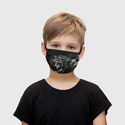 Маска для лица детская AC/DC цвета 3D-принт — фото 1