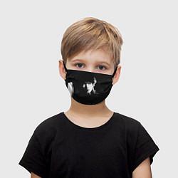Маска для лица детская Цой с сигаретой цвета 3D — фото 1