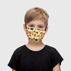 Маска для лица детская Осень цвета 3D — фото 1
