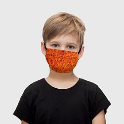 Маска для лица детская Морковь цвета 3D — фото 1