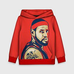 Толстовка-худи детская LeBron James цвета 3D-красный — фото 1