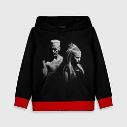Толстовка-худи детская Die Antwoord: Black цвета 3D-красный — фото 1