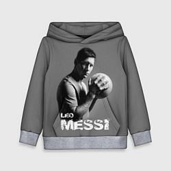 Толстовка-худи детская Leo Messi цвета 3D-меланж — фото 1