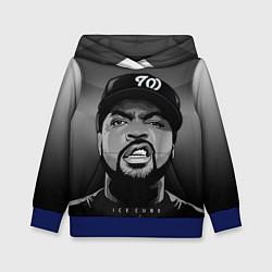 Толстовка-худи детская Ice Cube: Gangsta цвета 3D-синий — фото 1