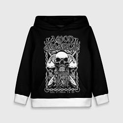 Толстовка-худи детская Amon Amarth: Trio Skulls цвета 3D-белый — фото 1