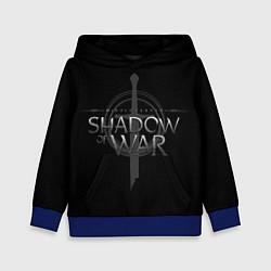 Толстовка-худи детская Shadow of War цвета 3D-синий — фото 1
