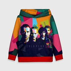 Толстовка-худи детская Coldplay цвета 3D-красный — фото 1