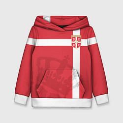 Толстовка-худи детская Сборная Сербии цвета 3D-белый — фото 1