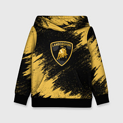 Толстовка-худи детская Lamborghini: Yellow Colors цвета 3D-черный — фото 1