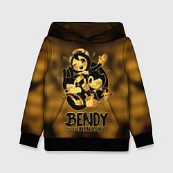 Толстовка-худи детская Bendy and the ink machine цвета 3D-черный — фото 1