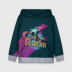 Толстовка-худи детская Rocket цвета 3D-меланж — фото 1