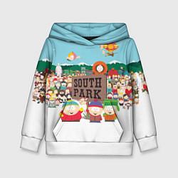 Толстовка-худи детская Южный Парк цвета 3D-белый — фото 1