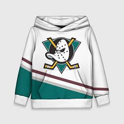 Толстовка-худи детская Anaheim Ducks Selanne цвета 3D-белый — фото 1