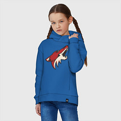 Толстовка оверсайз детская Phoenix Coyotes цвета синий — фото 2