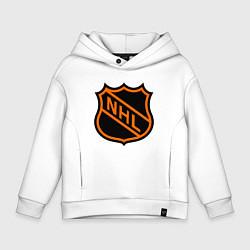 Детская хлопковая толстовка оверсайз с принтом NHL, цвет: белый, артикул: 10010707906093 — фото 1
