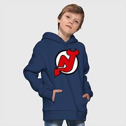 Толстовка оверсайз детская New Jersey Devils цвета тёмно-синий — фото 2