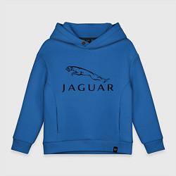 Толстовка оверсайз детская Jaguar цвета синий — фото 1