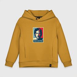 Толстовка оверсайз детская Lennon Imagine цвета горчичный — фото 1