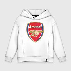 Толстовка оверсайз детская Arsenal FC цвета белый — фото 1