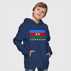 Толстовка оверсайз детская Азербайджан цвета тёмно-синий — фото 2