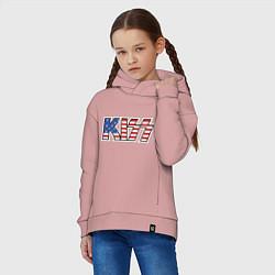 Толстовка оверсайз детская KIss USA цвета пыльно-розовый — фото 2