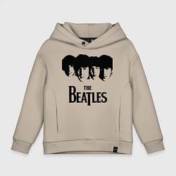 Толстовка оверсайз детская The Beatles: Faces цвета миндальный — фото 1