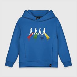 Толстовка оверсайз детская Beatles Color цвета синий — фото 1