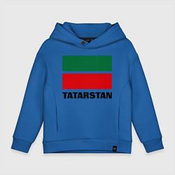 Толстовка оверсайз детская Флаг Татарстана цвета синий — фото 1