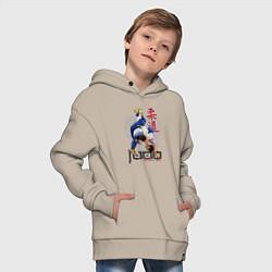 Толстовка оверсайз детская Дзюдо: национальная команда цвета миндальный — фото 2