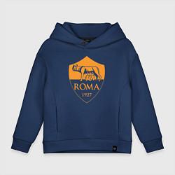 Толстовка оверсайз детская AS Roma: Autumn Top цвета тёмно-синий — фото 1