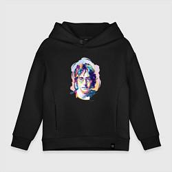 Толстовка оверсайз детская John Lennon: Art цвета черный — фото 1