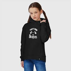 Толстовка оверсайз детская That's Who Loves The Beatles цвета черный — фото 2