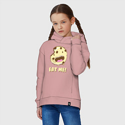 Толстовка оверсайз детская Cake: Eat me! цвета пыльно-розовый — фото 2