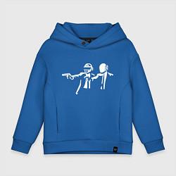 Толстовка оверсайз детская Daft Punk цвета синий — фото 1