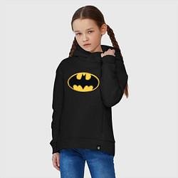 Толстовка оверсайз детская Batman цвета черный — фото 2