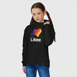 Толстовка оверсайз детская Likee LIKE Video цвета черный — фото 2