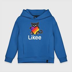 Толстовка оверсайз детская Likee LIKE Video цвета синий — фото 1