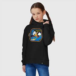 Толстовка оверсайз детская Дональд Дак цвета черный — фото 2