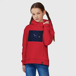 Толстовка оверсайз детская Pacman цвета красный — фото 2