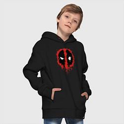 Толстовка оверсайз детская Deadpool logo цвета черный — фото 2