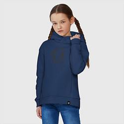 Толстовка оверсайз детская Хикки цвета тёмно-синий — фото 2