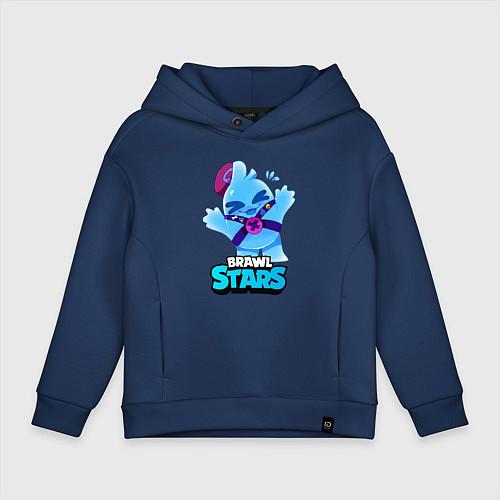 Детское худи оверсайз Сквик Squeak Brawl Stars / Тёмно-синий – фото 1