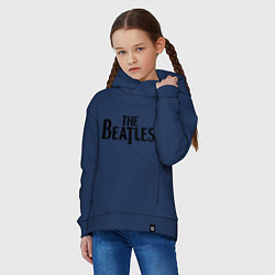 Толстовка оверсайз детская The Beatles цвета тёмно-синий — фото 2