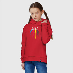 Толстовка оверсайз детская Abbey Road Colors цвета красный — фото 2