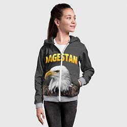Толстовка на молнии детская Dagestan Eagle цвета 3D-меланж — фото 2