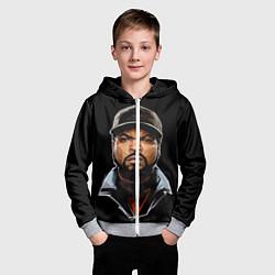 Толстовка на молнии детская Ice Cube цвета 3D-меланж — фото 2
