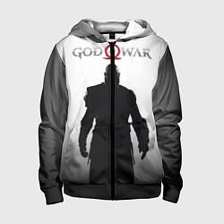 Толстовка на молнии детская God of War: Kratos цвета 3D-черный — фото 1